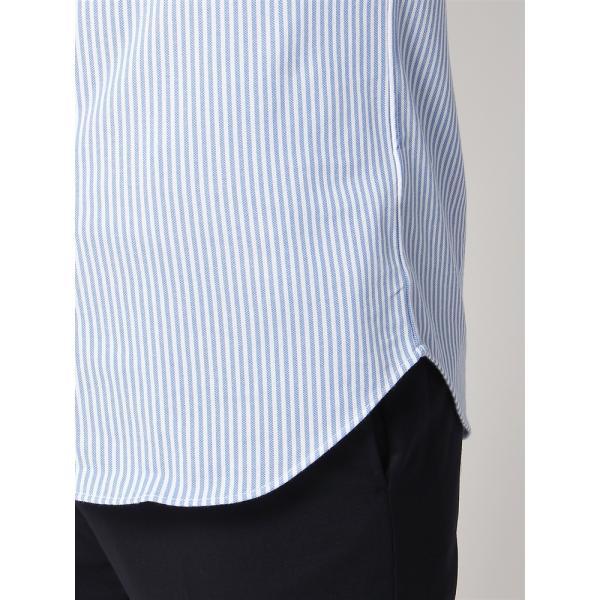 ドレスシャツ/半袖/メンズ/半袖・ノンアイロンジャージー素材/WE SUIT YOU/ボタンダウンカラードレスシャツ ブルー×ホワイト|uktsc|07