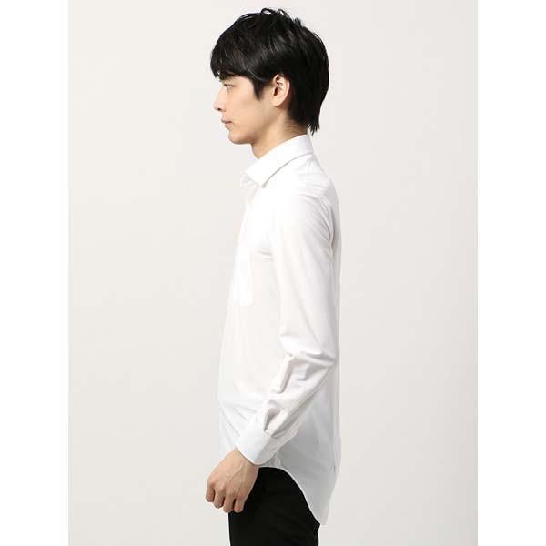 ドレスシャツ/長袖/メンズ/ノンアイロンジャージー素材/WE SUIT YOU/ワイドカラードレスシャツ ホワイト|uktsc|03
