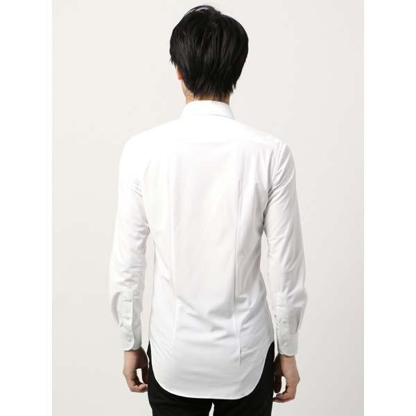 ドレスシャツ/長袖/メンズ/ノンアイロンジャージー素材/WE SUIT YOU/ワイドカラードレスシャツ ホワイト|uktsc|04