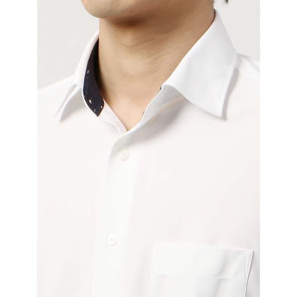 ドレスシャツ/長袖/メンズ/ノンアイロンジャージー素材/WE SUIT YOU/ワイドカラードレスシャツ ホワイト|uktsc|05
