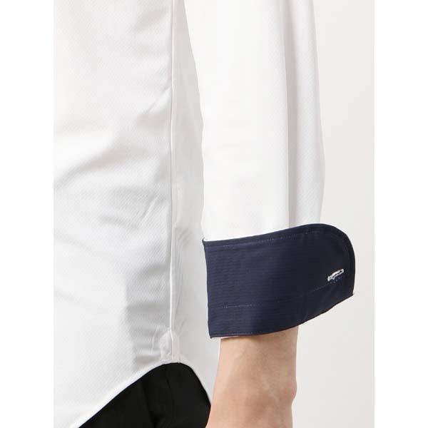 ドレスシャツ/長袖/メンズ/ノンアイロンジャージー素材/WE SUIT YOU/ワイドカラードレスシャツ ホワイト|uktsc|06