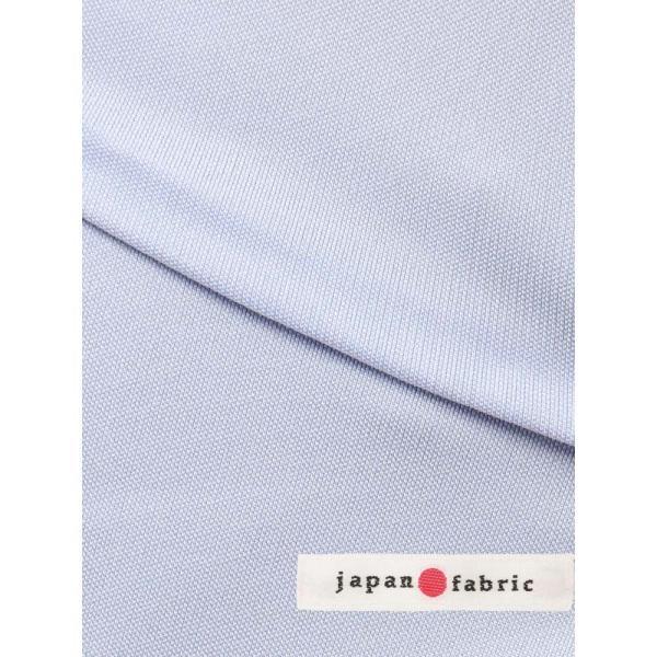 ドレスシャツ/長袖/メンズ/ノンアイロンジャージー素材/WE SUIT YOU/ボタンダウンカラードレスシャツ ブルー uktsc 07