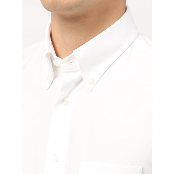 ドレスシャツ/長袖/メンズ/ノンアイロンジャージー素材/WE SUIT YOU/ボタンダウンカラードレスシャツ ホワイト|uktsc|05