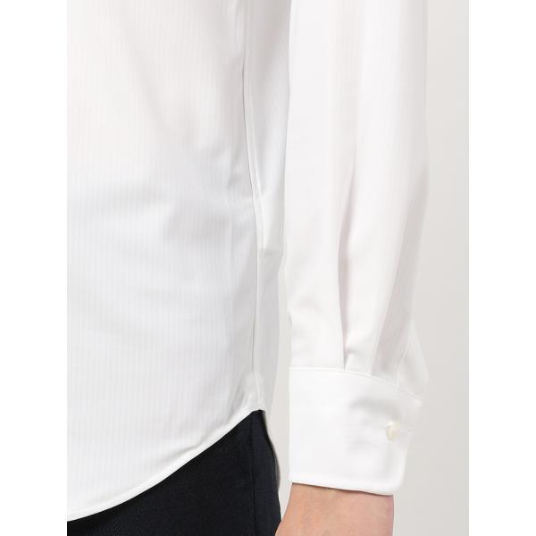 ドレスシャツ/長袖/メンズ/ノンアイロンジャージー素材/WE SUIT YOU/ボタンダウンカラードレスシャツ ホワイト|uktsc|06