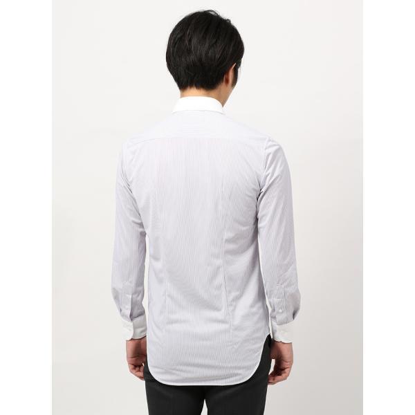 ドレスシャツ/長袖/メンズ/ノンアイロンジャージー素材/WE SUIT YOU/クレリック&ワイドカラードレスシャツ パープル×ホワイト uktsc 04
