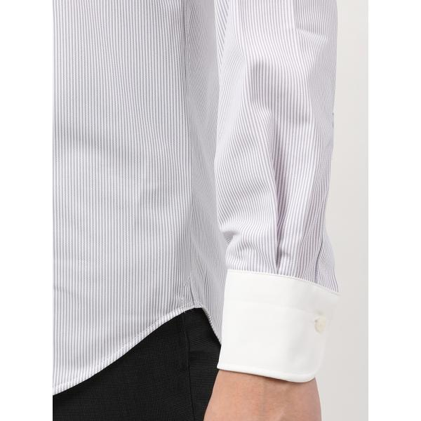 ドレスシャツ/長袖/メンズ/ノンアイロンジャージー素材/WE SUIT YOU/クレリック&ワイドカラードレスシャツ パープル×ホワイト uktsc 06