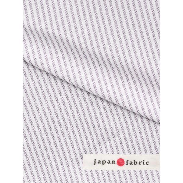 ドレスシャツ/長袖/メンズ/ノンアイロンジャージー素材/WE SUIT YOU/クレリック&ワイドカラードレスシャツ パープル×ホワイト uktsc 07