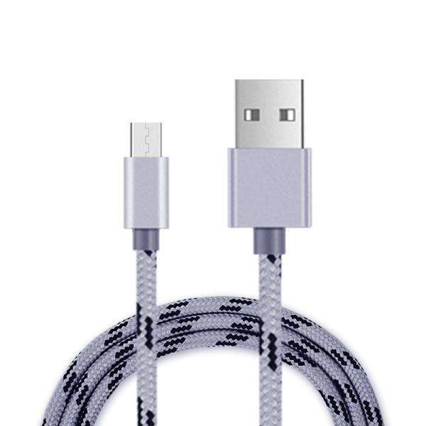 アンドロイド 充電ケーブル 2m アルミ端子 ナイロン製 スマホケーブル マイクロusb microusb DOCOMO GALAXYS3 USBケーブル 充電器 スマートフォン ケーブル|ulink|02