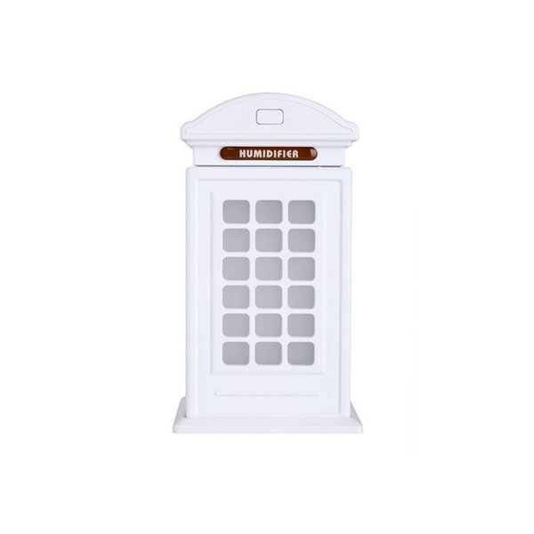 加湿器 卓上 電話ボックス 超音波式 大容量 300ml 空焚き防止 7色のLEDライト切替自由 加湿 静音 8時間連続使用可能 卓上加湿器 ミニ USB 加湿器 品質保証