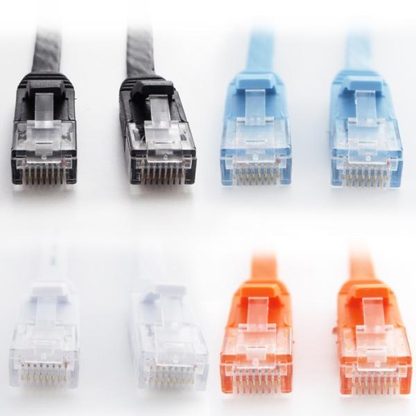 LANケーブル ランケーブル フラット 15m CAT6準拠 1年保証 ストレート ツメ折れ防止カバー フラットLANケーブル UL.YN|ulmax|07