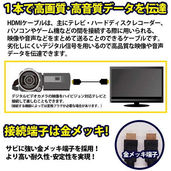 HDMIケーブル 3m HDMIver1.4 金メッキ端子 High Speed HDMI Cable ブラック ハイスピード 4K 3D イーサネット対応 液晶テレビ ブルーレイレコーダー UL.YN|ulmax|02