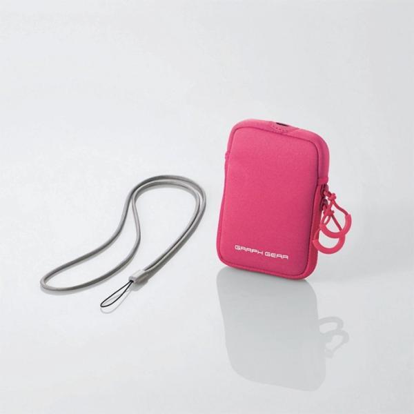 デジタルカメラケース ピンク ブルー グレー  伸縮素材 |ulmax|02