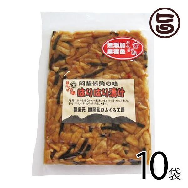 はりはり漬け 100g×10袋 阿蘇おふくろ工房 熊本県 菊池産の冬季収穫大根を使用 阿蘇の昔ながらの漬け 無添加 無着色  条件付き送料無料