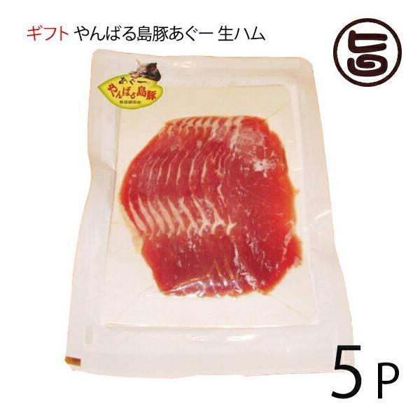 ギフト やんばる島豚あぐー 黒豚 生ハム 100g×5P フレッシュミートがなは フレッシュミートがなは 沖縄 土産 アグー あぐー 貴重  条件付き送料無料