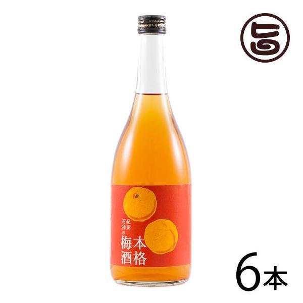 紀州石神の本格梅酒 720ml×6本 梅酒 瓶 完熟南高梅 和三盆糖使用 無添加  条件付き送料無料