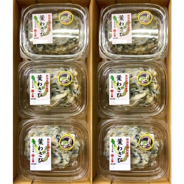 葉わさび 100g×6パック【新潟銘酒粕使用】ピリッとわさび味【冷蔵便】