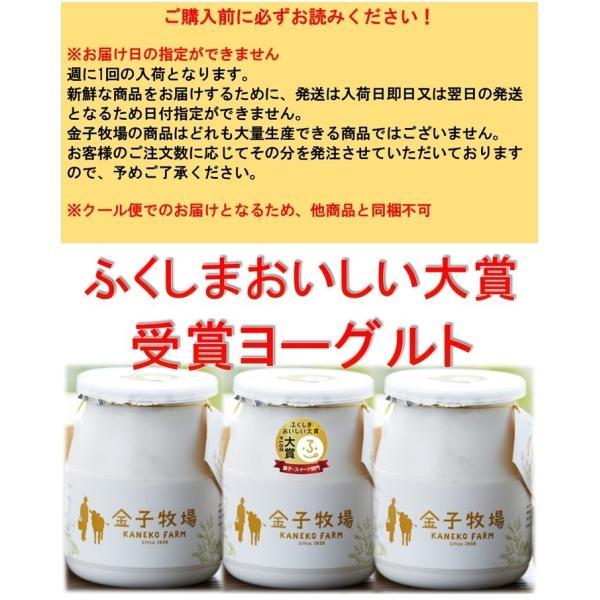 【クール便】金子牧場 食べると幸せゴールデンヨーグルト 大(480g)×3個セット|umaimonoaizu|05