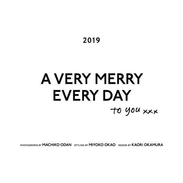 「A VERY MERRY EVERY DAY to you」 2019年版|umd-tsutayabooks|03