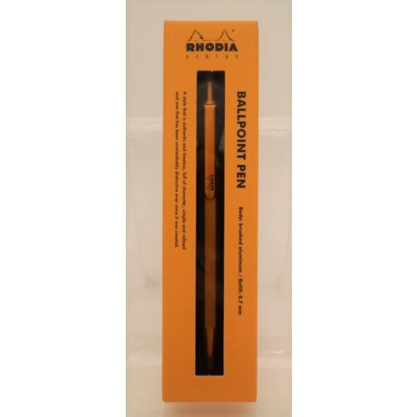 【ギフトにもおすすめ】ロディア スクリプト ボールペン 0.7mm オレンジ