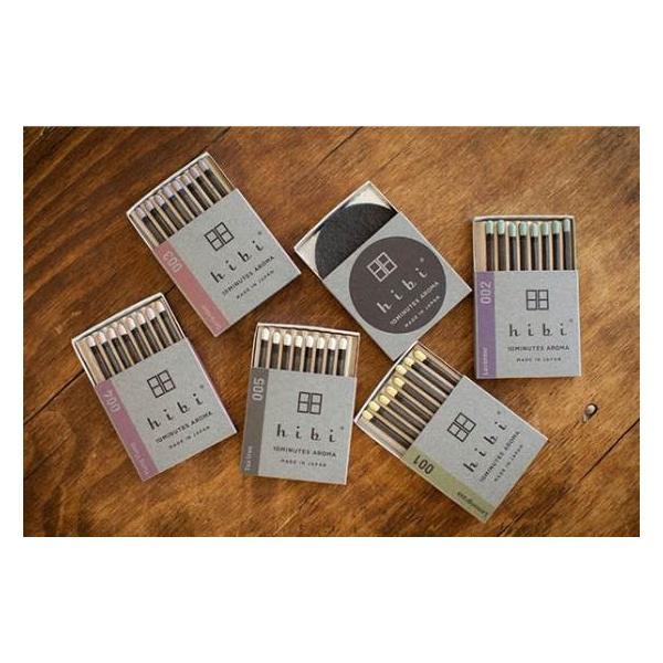 着火具がなくても使えるお香スティック hibi 5つの香りギフトボックス (8本入り×5 専用マット付)|umd-tsutayabooks|02