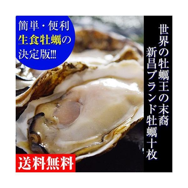 新昌ブランドの殻付牡蠣・ハーフシェル 10枚(5枚入×2パック)※送料無料【冷凍生食用】|umeebeccyasannriku