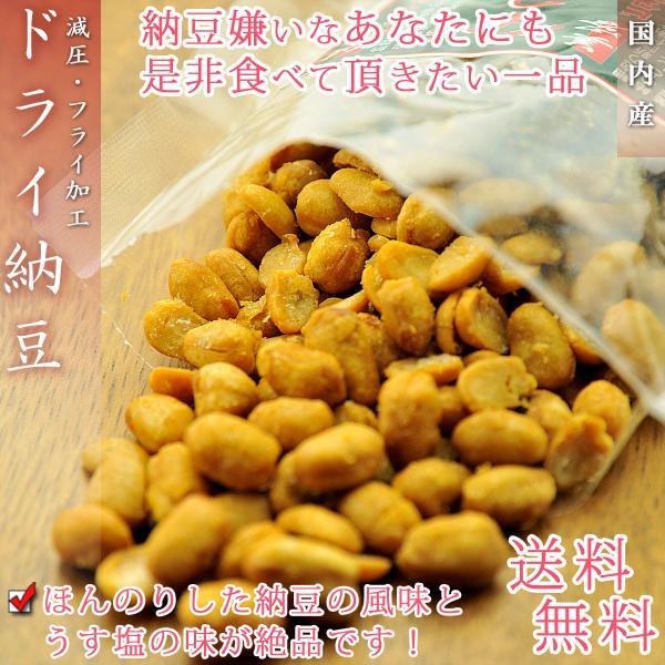 食べたらヤミツキ♪茨城県産 ドライ納豆 お徳用 500g(うす塩味)【送料無料】【無添加】※代金引換不可