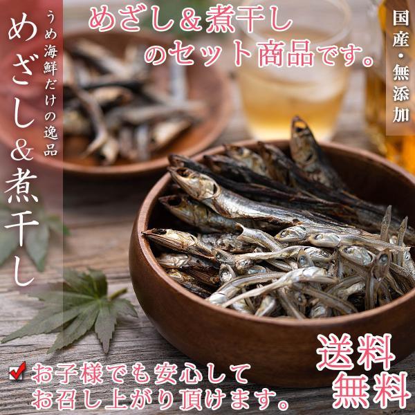 小魚 干物セット 国産 焼きめざし&煮干し 無添加 いりこ おつまみ 干物 薫製
