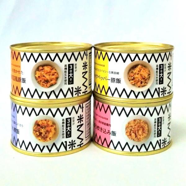 贅沢ご飯の缶詰〜ご飯缶4種セット各1個 缶詰 アウトドア キャンプ 缶飯 おうちご飯 非常食 玄米 ミリタリー缶詰 ミリメシ 常備食