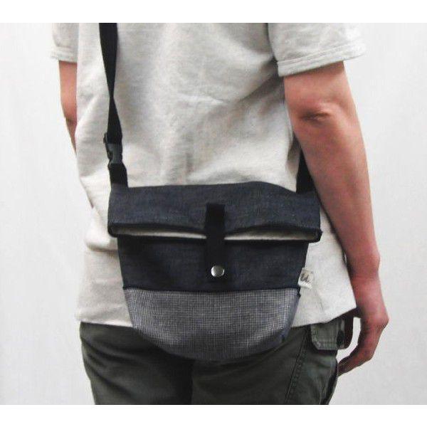 手作りキット/デニムで作るフタ折れショルダーバッグ