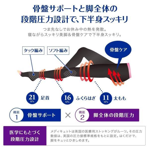 寝ながらメディキュット スパッツ ボディシェイプ 骨盤サポート Lサイズ 着圧効果 骨盤ケア用 under100s 05