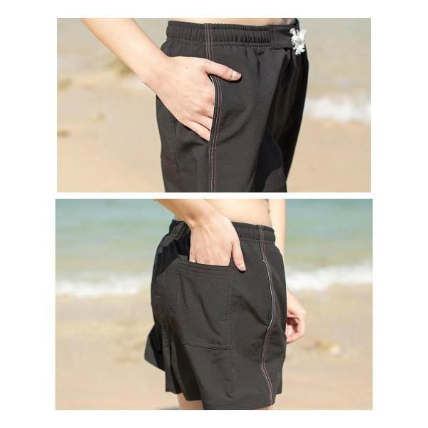 短パン 水着 ショートパンツ レディース サーフパンツ   海パン ポケット付き|under100s|04