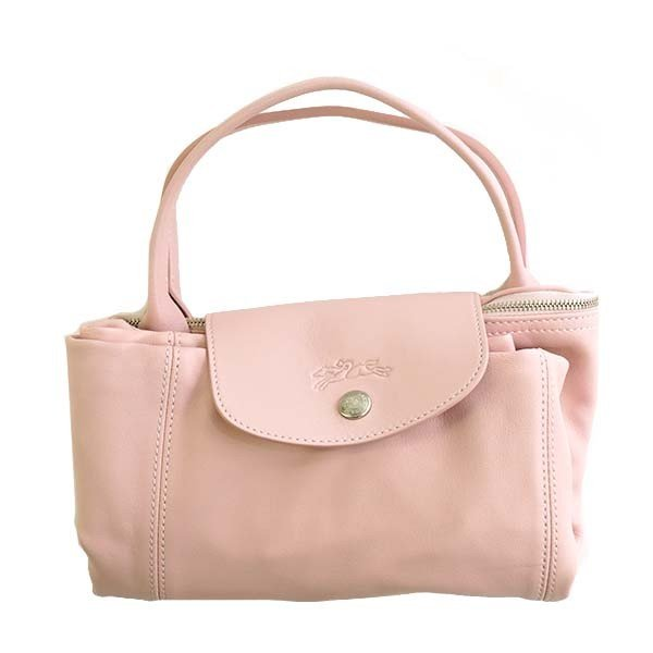 LONGCHAMP LE PLIAGE CUIR ハンドバッグ ライトピンク 1515  C59 GIRL 737  ロンシャン