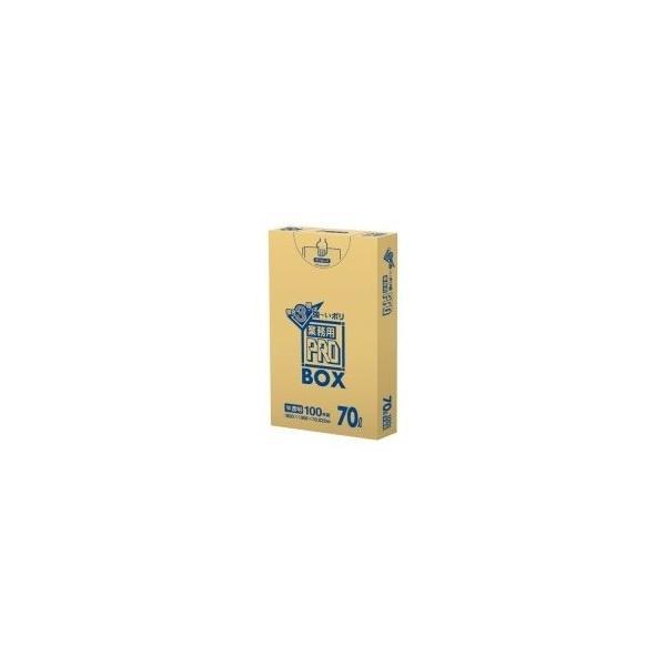 (業務用20セット) 日本サニパック 3層ゴミ袋業務用PRO 70L 半透明 100枚