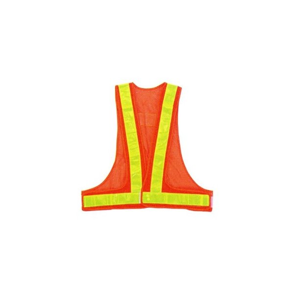 勝星 保安用品 安全ベスト(5cm巾) KA-330 オレンジ×イエロー