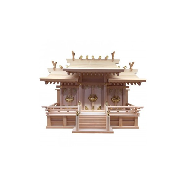 神棚の里 神棚 三社 木曽桧 屋根違い 中 日本製