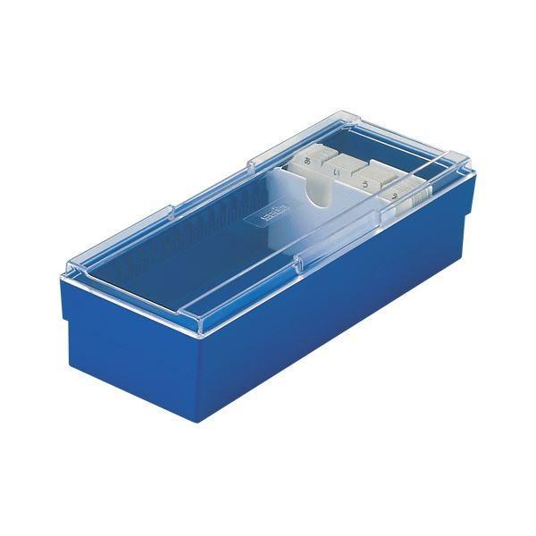 (まとめ) ネームカードボックス CB-700-10 ブルー 1個入 〔×3セット〕〔沖縄離島発送不可〕