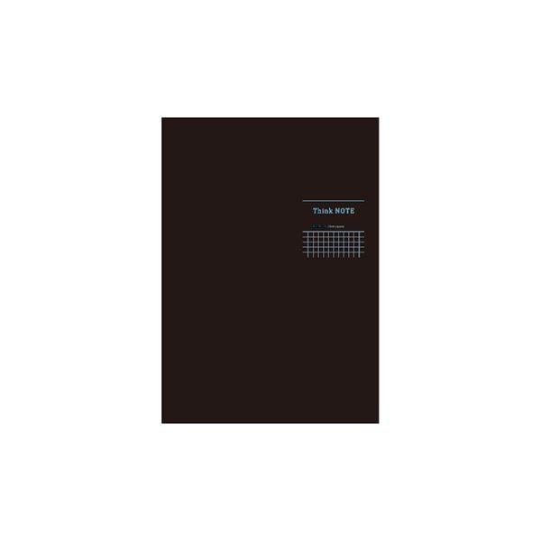 (業務用セット)ナカバヤシ ロジカル・シンクノートB5 タテ 糸綴じ ノ-B552SDB-ブラック・ブルー〔×10セット〕