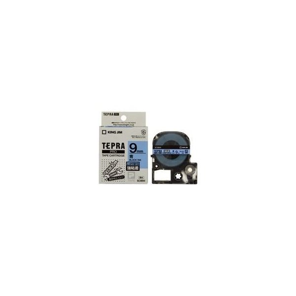 (業務用50セット) キングジム テプラ PROテープ/ラベルライター用テープ 〔強粘着/幅:9mm〕 SC9BW ブルー(青)〔沖縄離島発送不可〕