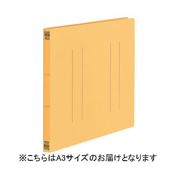 プラス フラットファイル縦罫A3E No.002NT YL 10冊〔沖縄離島発送不可〕