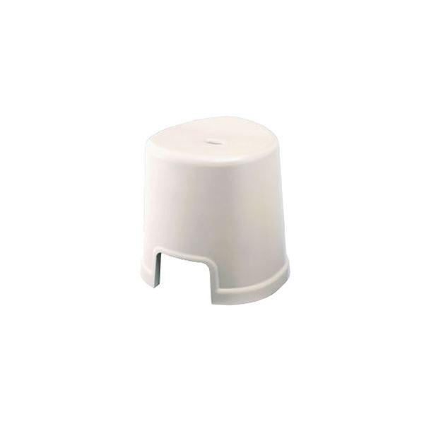 シンプル バスチェア/風呂椅子 〔350 ホワイト〕 すべり止め付き 材質:PP 『HOME&HOME』〔代引不可〕