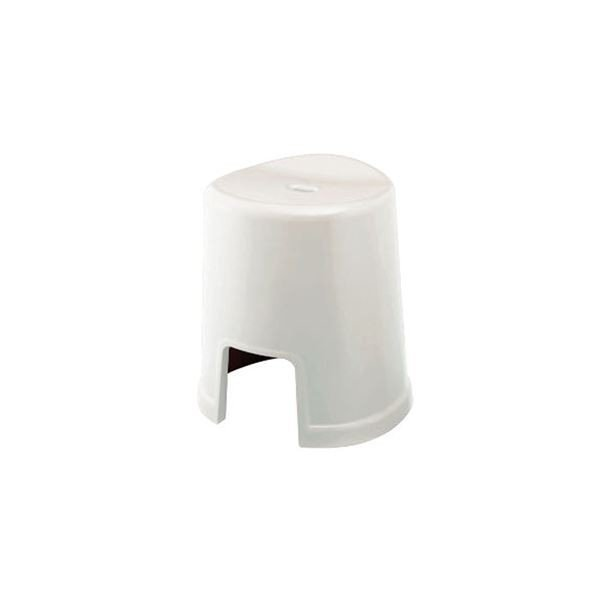 シンプル バスチェア/風呂椅子 〔400 ホワイト〕 すべり止め付き 材質:PP 『HOME&HOME』〔代引不可〕