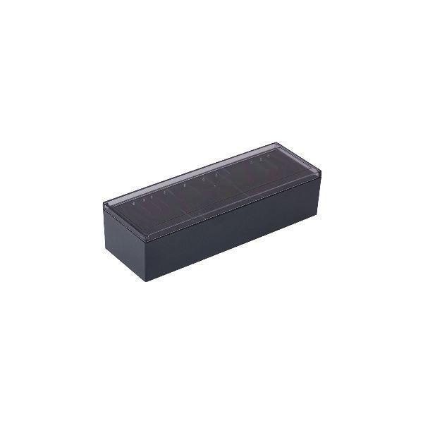 (まとめ)キングジム 名刺整理箱 約1000枚収納黒 75 1個 〔×5セット〕