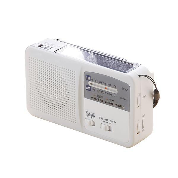 多機能 充電ラジオライト/防災グッズ 〔幅約14cm〕 AM FM ワイドFM サイレン LEDライト スマホ充電 〔災害対策 アウトドア〕〔代引不可〕〔沖縄離島発送不可〕