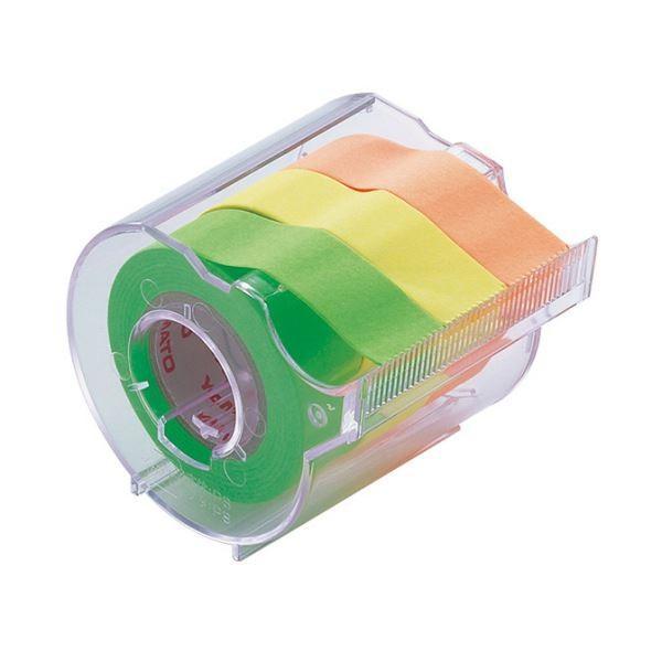 (まとめ) ヤマト メモック ロールテープ カッター付 15mm幅 オレンジ&レモン&ライム RK-15CH-A 1個 〔×30セット〕