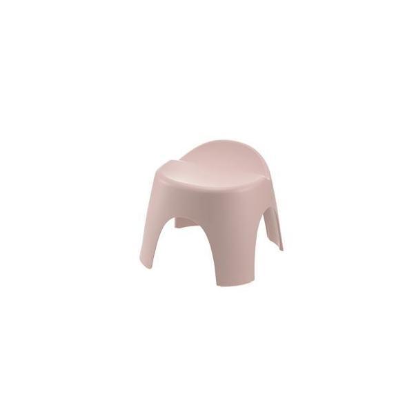 〔8個セット〕 バスチェア/風呂椅子 〔座面高25cm ピンク〕 日本製 抗菌成分 銀イオン リッチェル アライス 腰かけ