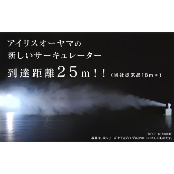 サーキュレーター アイリスオーヤマ おしゃれ 扇風機 左右首振り サーキュレーターアイ 18畳 ボール型 ホワイト 1年保証 リモコン付き 静音 PCF-SC15|unidy-y|02