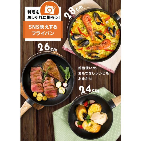 スキレット IH フライパン 28cm スキレットコートパン ブラック SKL-28IH アイリスオーヤマ unidy-y 02