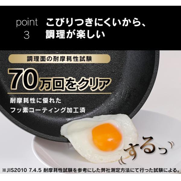 スキレット IH フライパン 28cm スキレットコートパン ブラック SKL-28IH アイリスオーヤマ unidy-y 11