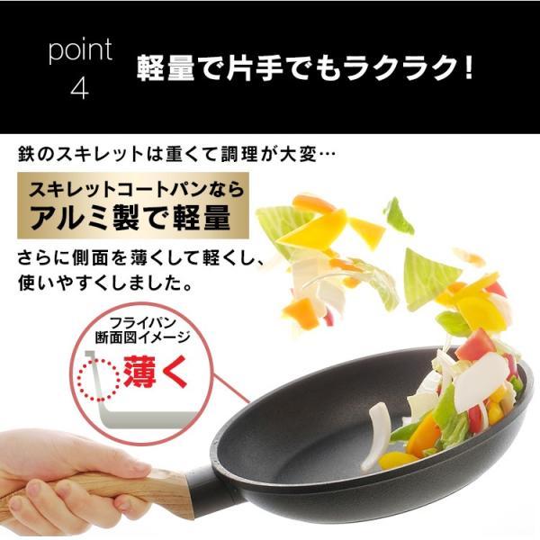 スキレット IH フライパン 28cm スキレットコートパン ブラック SKL-28IH アイリスオーヤマ unidy-y 12
