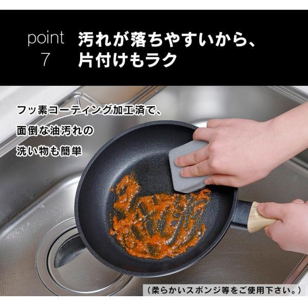 スキレット IH フライパン 28cm スキレットコートパン ブラック SKL-28IH アイリスオーヤマ unidy-y 15